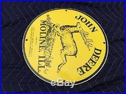 Vintage John Deere Porcelain Sign 12 Gas Oil Pump Plate Service Station Farming