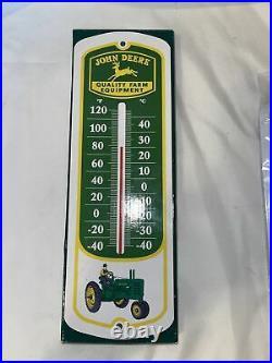 Vintage John Deere Quality Farm Equipment Metal Thermometer. New In Box
