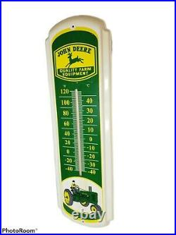 Vintage John Deere Quality Farm Equipment Outdoor Thermometer 27 1/4 X 8 1/4