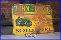 Vintage John Deere Sign Farm Tractor Moline Illinois