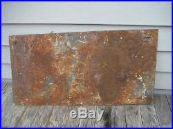 Vintage John Deere Tin Embossed Sign Ed Kolo Hammondsport New York 3 Legged