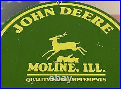 Vintage John Deere Tractor Porcelain Sign Farm Oil Gas Station Ih Cat Chevy Ford