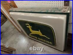 Vintage John Deere lighted Dealership Sign