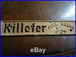Vintage Killefer John Deere Tractor Emblem
