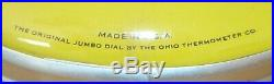 Vintage LYNKS SEEDS 12 Iowa Farm Thermometer Sign U. S. A. John Deere Yellow