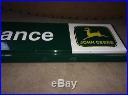 Vintage Metal 1970's John Deere Dealership ENTRANCE Sign Old Logo 50 Long