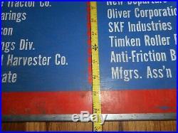 Vintage OTC Tools Owatonna MN Farm John Deere Allis Oliver Ford Massey IH SIGN