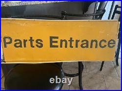 Vintage Old John Deere Heavy Equipment Embossed Parts Entrance Metal Sign