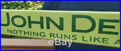 Vintage Porcelain John Deere Tractor Door Push Sign