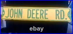 Vintage Sign John Deere Rd. Street Sign Heavy Duty 30 X 6