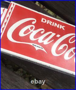 Vintage Style Coke Coca-cola 30 Door Push Porcelain Sign