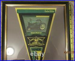 Vintage and Very Rare John Deere Framed Pennant 10 of 1000