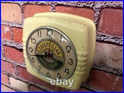 Vtg Caterpillar-john Deere Old Tractor Dealer Farm Store Advertising Wall Clock