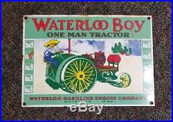 Waterloo boy porcelain sign